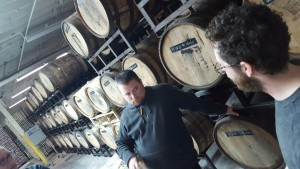 Jason was so moved by the barrel-aging that he needed help standing up straight. Not at all related to his torn MCL/ACL